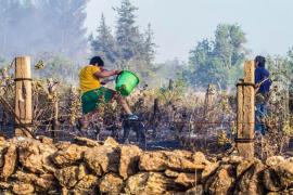 Extinguido el incendio de Sant Joan que finalmente ha quemado 23,64 hectáreas