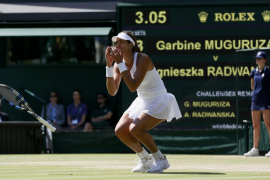 Garbiñe Muguruza reta a la historia y se mete en la final de Wimbledon