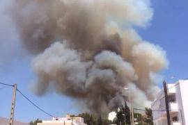 Imágenes del incendio forestal declarado en Sant Miquel