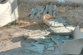 Sant Josep retira 720 kilos de fibrocemento depositaos en distintas partes del municipio de manera ilegal