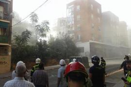 Se derrumba gran parte de un edificio de viviendas en Madrid