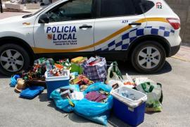La Policía Local de Sant Josep interviene cerca de 600 quilos de material a vendedores ilegales