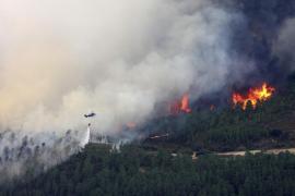Evacuados 1.400 vecinos de dos pueblos por el incendio de la Sierra de Gata