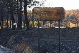 Continúa bajo control el incendio en Gata tras arrasar unas 7.000 hectáreas