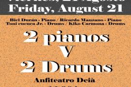 '2 pianos V 2 drumbs', un concierto diferente