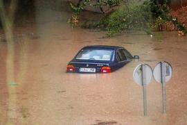 Una tromba de agua vuelve a sumir en el caos a la ciudad de Eivissa