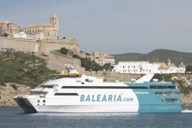 El tráfico marítimo entre las Pitiüses se dispara un 7% y roza los 600.000 pasajeros hasta junio