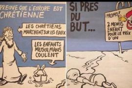'Charlie Hebdo' se burla de la muerte del pequeño Aylan