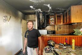 Sobresalto en un edificio de Eivissa por un incendio originado en el termo de una vivienda