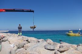 Retiran un centenar de 'muertos' para el fondeo en las costas de Formentera