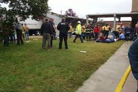 Accidente en un instituto