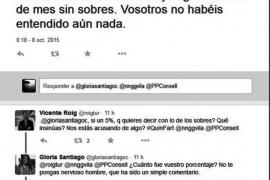El PP del Consell pide la reprobación de Gloria Santiago por insinuar que cobran sobres