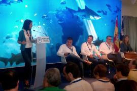 Andrea Levy se disculpa en Palma por la corrupción del PP