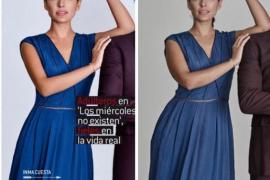 Inma Cuesta denuncia en Instagram los retoques en una de sus fotos