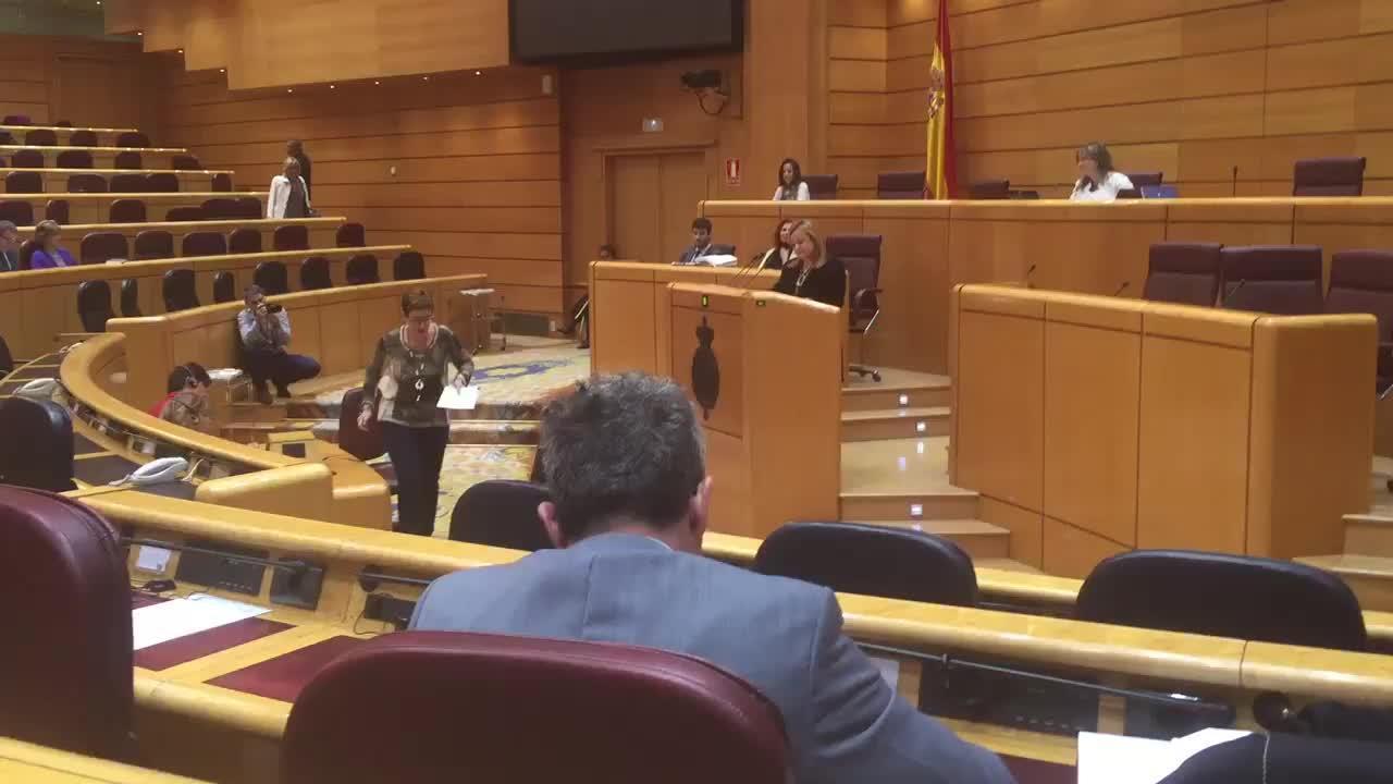 Emotiva despedida de la senadora vasca María Eugenia Iparraguirre