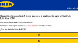 La falsa encuesta de Ikea por WhatsApp: un fraude informático