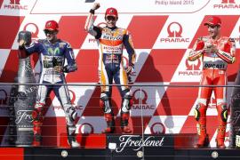Márquez logra la victoria en Australia, donde Lorenzo recorta puntos sobre Rossi
