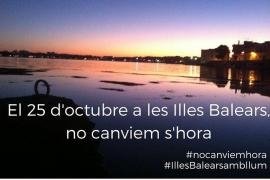 Una campaña pide que Balears no cambie la hora