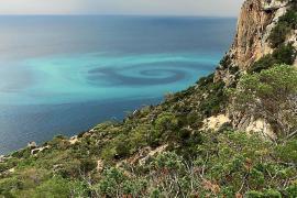 Captan una sobrecogedora espiral en el mar entre Sa Pedrera y es Vedrà