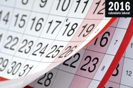 El calendario laboral para 2016 recoge ocho fiestas nacionales
