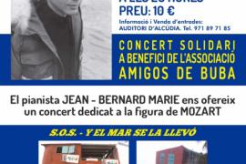Cartel del concierto solidario del pianista Jean-Bernard Marie