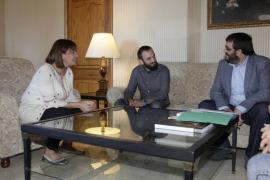 Francina Armengol, Jaume Canals y Vicenç Vidal