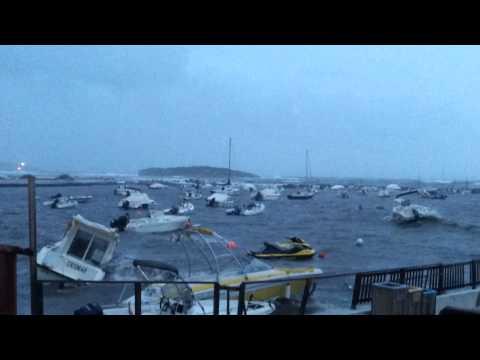 Alerta amarilla en las Pitiüses por fuertes lluvias y rachas de viento de hasta 70 kilómetros por hora