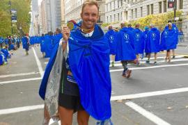 Carlos Ramón culmina la maratón de Nueva York por Núria