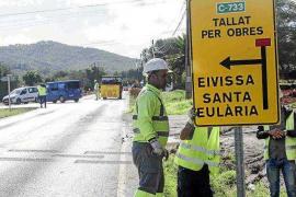 El Consell espera terminar la reforma de la carretera de Sant Joan antes del verano