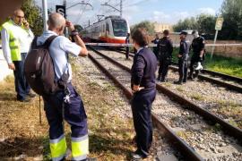 Muere un conductor arrollado por el tren de Inca a su paso por Verge de Lluc
