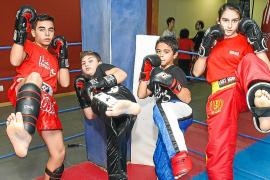 Cuatro jóvenes ibicencos en el Campeonato Balear de Kickboxing
