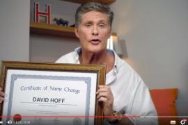 David Hasselhoff se llama desde ahora David Hoff