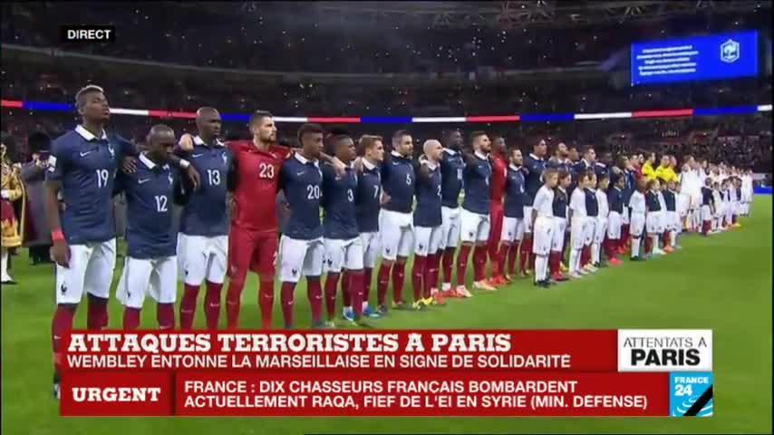 Wembley rinde homenaje a las víctimas de los atentados con La Marsellesa