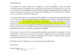 Medi Ambient declarará de emergencia las obras para sustituir el emisario de Talamanca