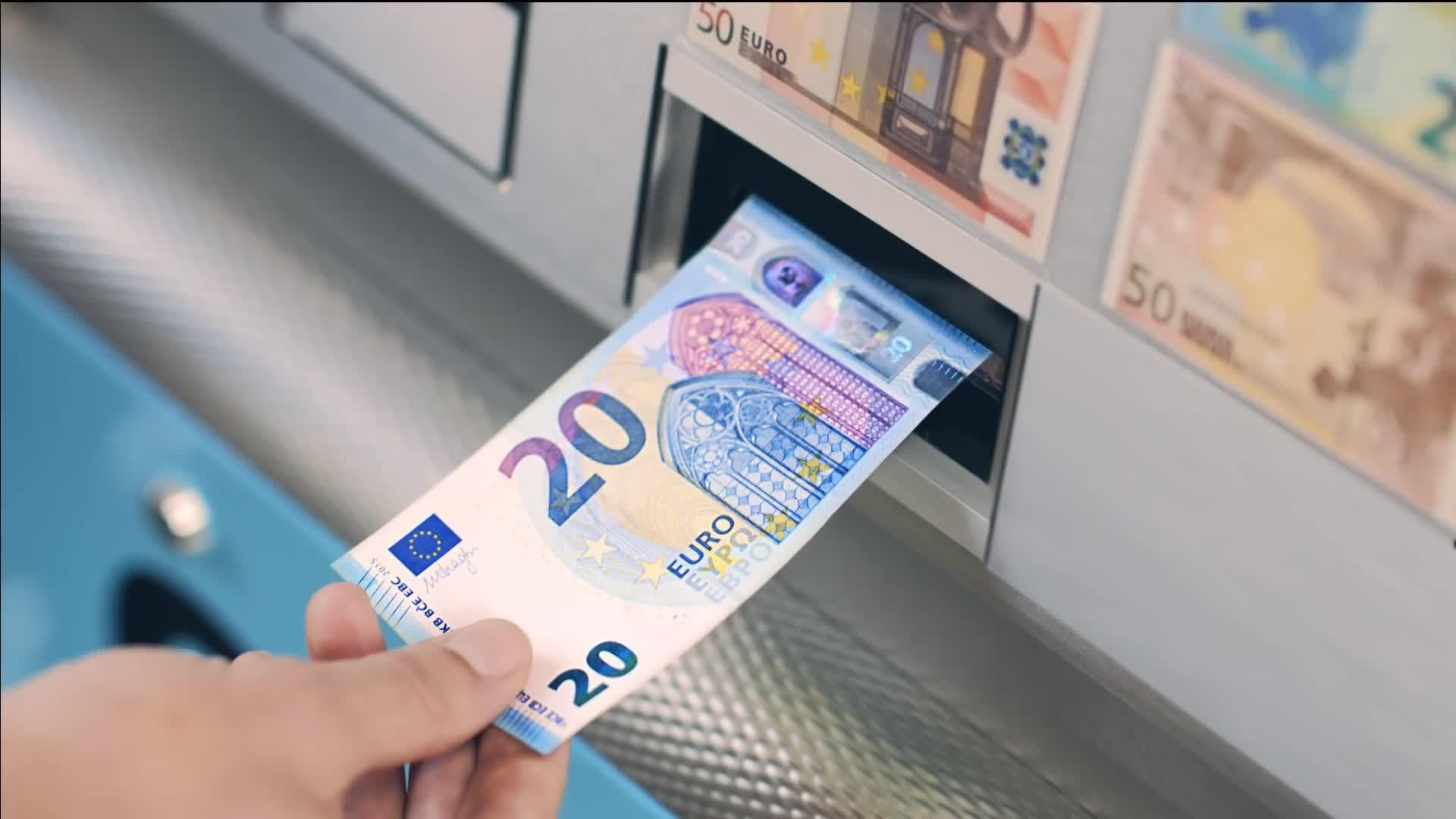 El miércoles empezará a circular el nuevo billete de 20 euros