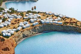 El asentamiento de sa Caleta como nunca se había visto