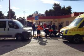 Un ciclista herido tras ser arrollado por un vehículo en Platja d'en Bossa