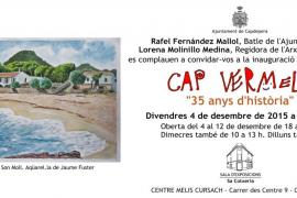 Exposición de los 35 años de historia de 'Cap Vermell' en Capdepera
