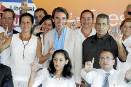 Aznar dice que los disidentes cubanos en España están en el 'limbo jurídico'