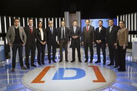 Nueve formaciones políticas debaten en TVE sus propuestas electorales
