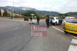 Mateo Isern y su mujer sufren un accidente de moto en la carretera vieja de Bunyola
