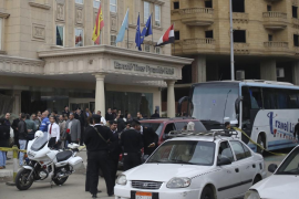 Entrada al hotel de Barceló en El Cairo