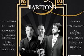 Árias de ópera y zarzuela con 'Els 3 barítons' en el Xesc Forteza