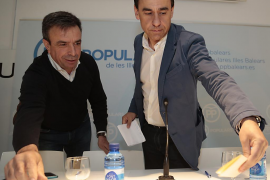 Martínez Maíllo dice en Inca que «lo más deseable  sería un Gobierno a tres con PP, PSOE y C's»