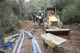 VÍDEO: Corte de agua en Sant Jordi para reparar fuga de 500 metros cúbicos diarios