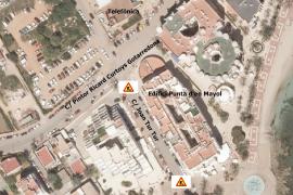 Se prohibirá estacionar en un tramo de la calle Joan Tur Tur por obras de alcantarillado