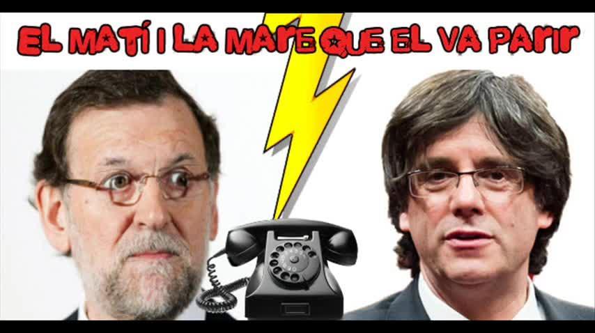 Rajoy, objeto de una broma radiofónica, recibe la llamada de un falso Puigdemont