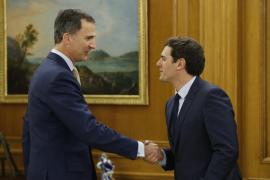 Rivera expone ante el Rey la disposición de Ciudadanos para reformar la Constitución
