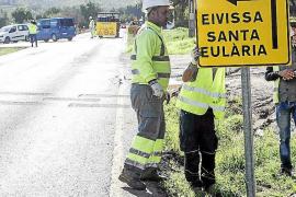 Cerrados a partir de hoy 5 kilómetros de la carretera de Sant Joan