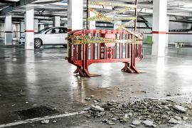 Cierran el parking del Mercat Nou por un desprendimiento del techo